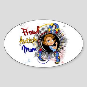 Autism Rosie Cartoon 1.1 Sticker (Oval)