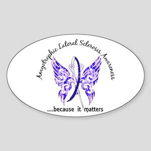 ALS Butterfly 6.1 Sticker (Oval)