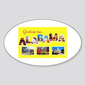 Alabama Greetings Oval Sticker