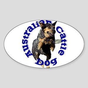 Cattle Dog House Oval Sticker