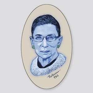Notorious RBG II Sticker (Oval)
