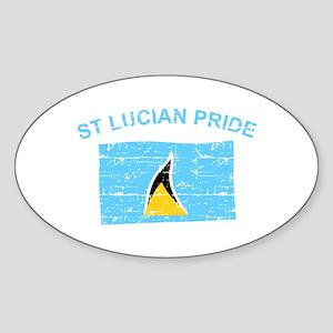 St Lucian Pride Sticker (Oval)