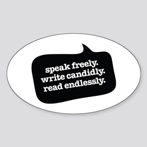 """""""Speak Freely"""" Oval Sticker"""