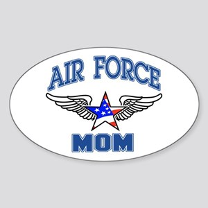 Air force Mom Oval Sticker