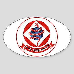 VF 102 Diamondbacks Oval Sticker