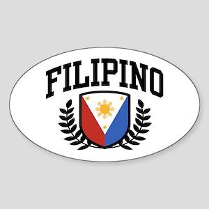 Filipino Oval Sticker