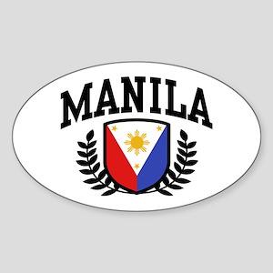 Manila Philippines Sticker (Oval)