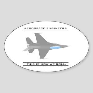Aero Engineers: How We Roll Oval Sticker