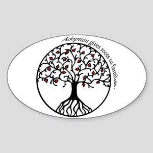 Adoption Roots Oval Sticker