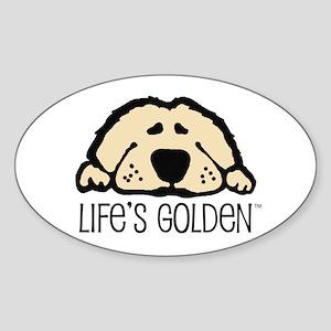 Life's Golden Oval Sticker