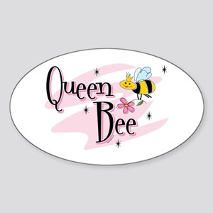 Queen Bee Oval Sticker