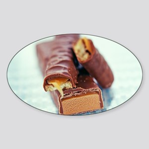 Chocolate bars Sticker (Oval)