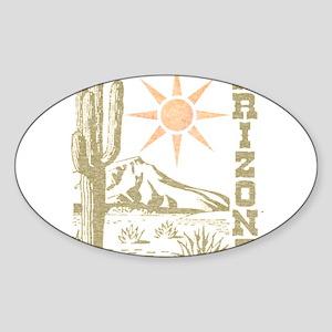 Vintage Arizona Cactus and Sun Sticker