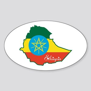 Cool Ethiopia Oval Sticker