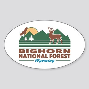 Bighorn National Forest Sticker (Oval)