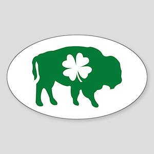 Buffalo Clover Oval Sticker