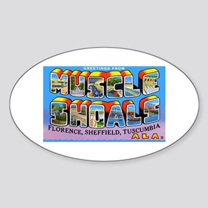 Muscle Shoals Alabama Greetings Oval Sticker