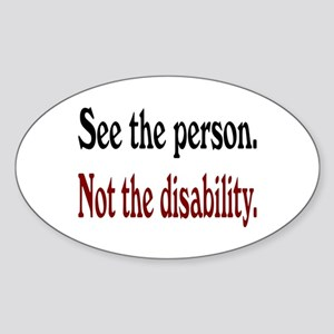 See the person... Oval Sticker