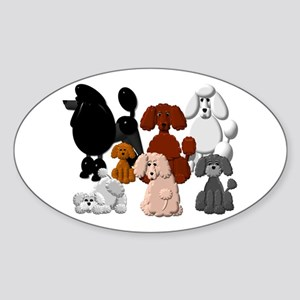 Tiny Poodle Pack Collage Sticker