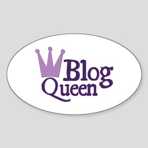 Crown Blog Queen Oval Sticker