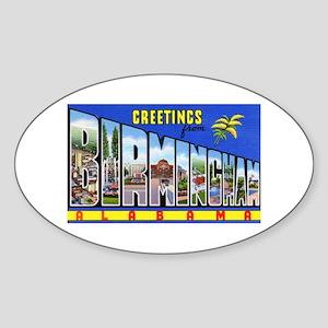 Birmingham Alabama Greetings Oval Sticker