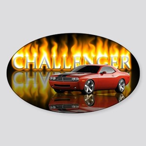 dodge chall Sticker (Oval)