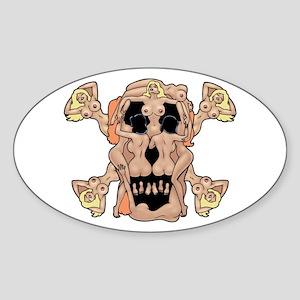 Nudie Pirate Oval Sticker