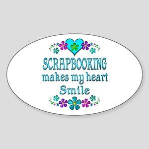 Scrapbooking Smiles Sticker (Oval)