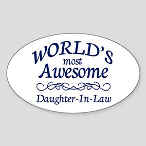 Daughter-In-Law Sticker (Oval)