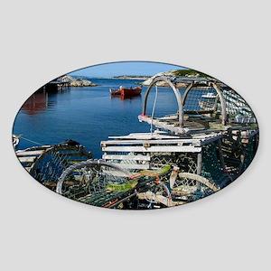 Bar Harbor Maine- sq.  Sticker (Oval)