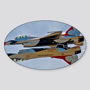 (15) Thunderbirds 5 and 6 Sticker (Oval)