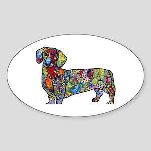 Wild Dachshund Sticker (Oval)