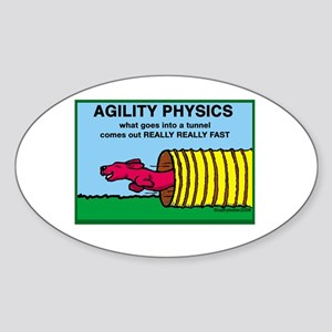 Agility Physics Oval Sticker