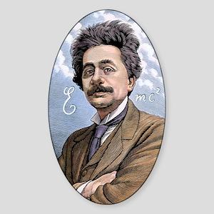 Albert Einstein, physicist Sticker (Oval)