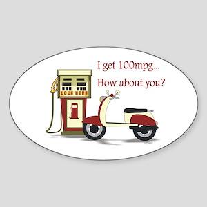 100 mpg Oval Sticker