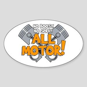 All Motor Sticker (Oval)
