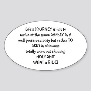 Life's journey Oval Sticker