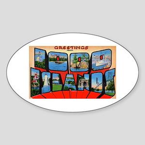1000 Islands New York Oval Sticker