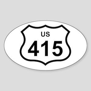 US 415 Oval Sticker