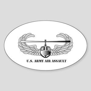 Air Assault Wings Oval Sticker