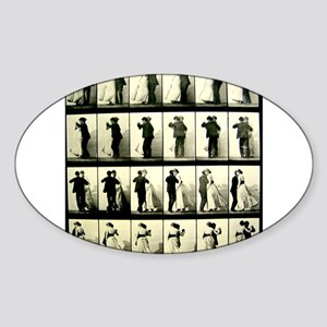 Vintage Dance Sequence Sticker (Oval)