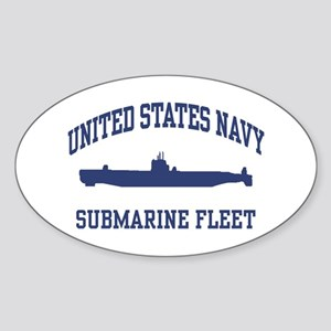 Navy Submarine Oval Sticker