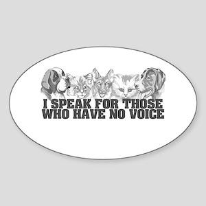 Animal Voice Oval Sticker