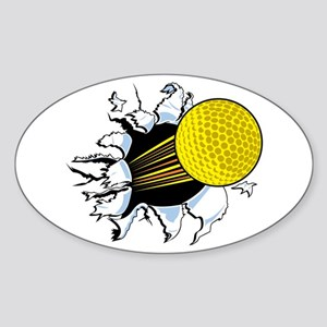 Golf Shot Oval Sticker