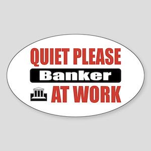 Banker Work Oval Sticker