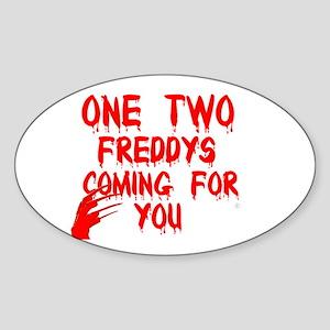 freddys song Sticker (Oval)