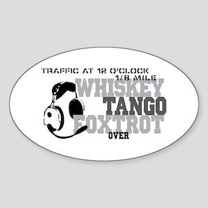 Aviation Humor Sticker (Oval)