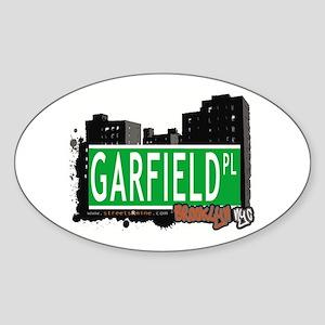 GARFIELD PL, BROOKLYN, NYC Oval Sticker