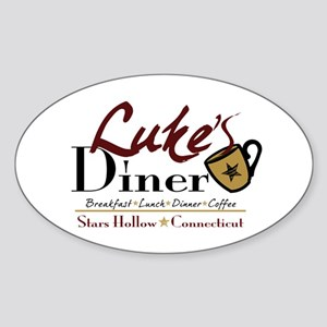 Luke's Diner Sticker (Oval)