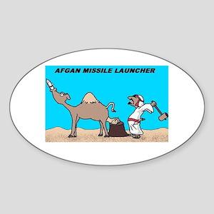 Afgan Missle Launcher Oval Sticker